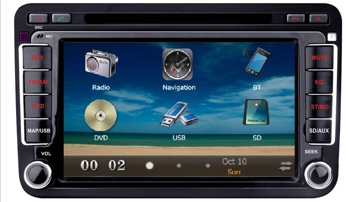 7 hd autoradio gps navi bluetooth dvbt ipod vw golf 5 6. Black Bedroom Furniture Sets. Home Design Ideas