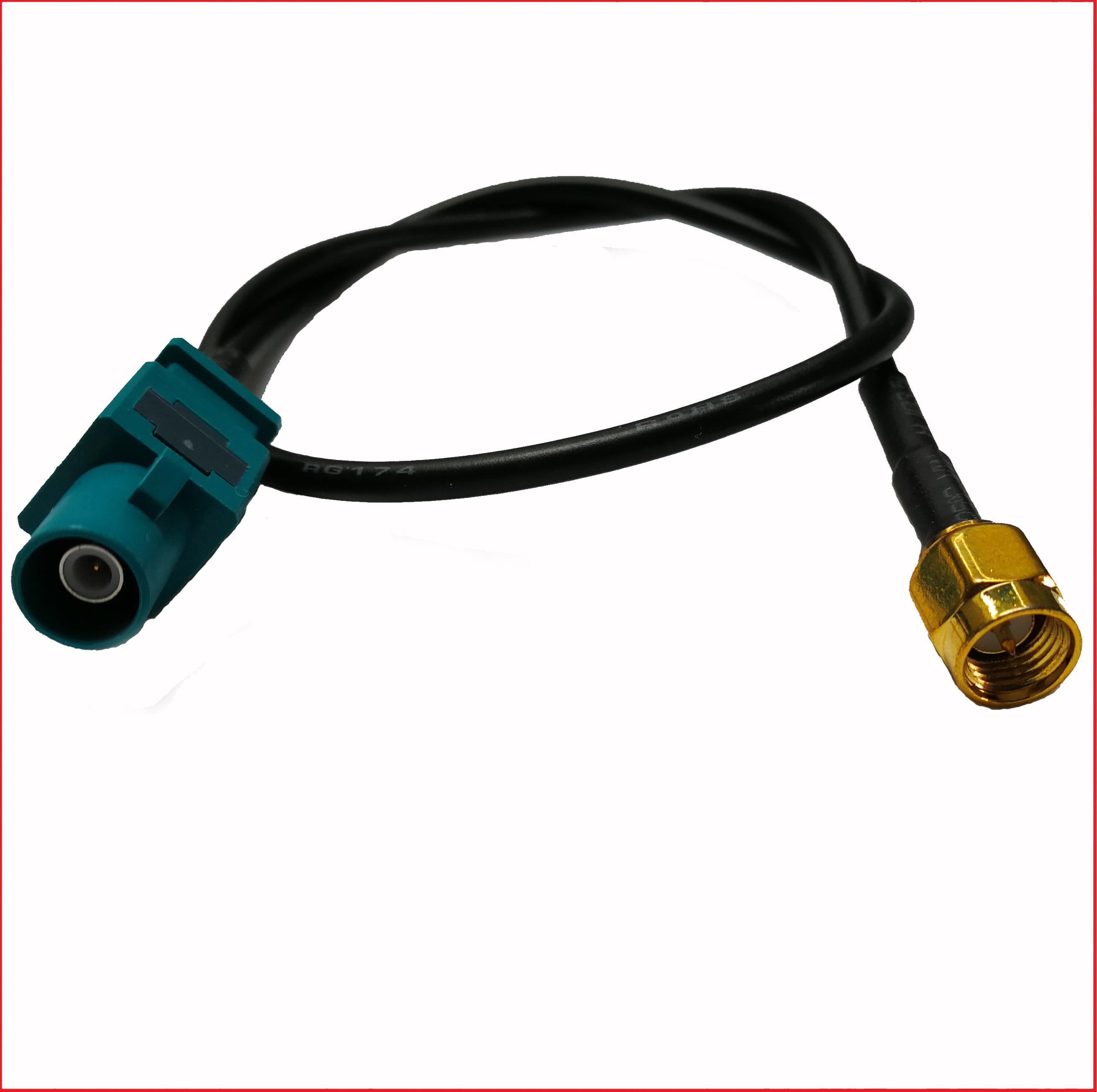 Autoradio FAKRA Antennes Adaptateur sur ISO//DIN pour vw audi seat skoda Chrysler